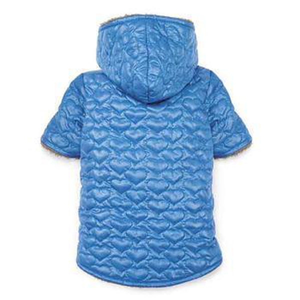 Zack and Zoey Elements Quilted Hearts Dog Jacket - Blue Pet Clothes Zack and Zoey