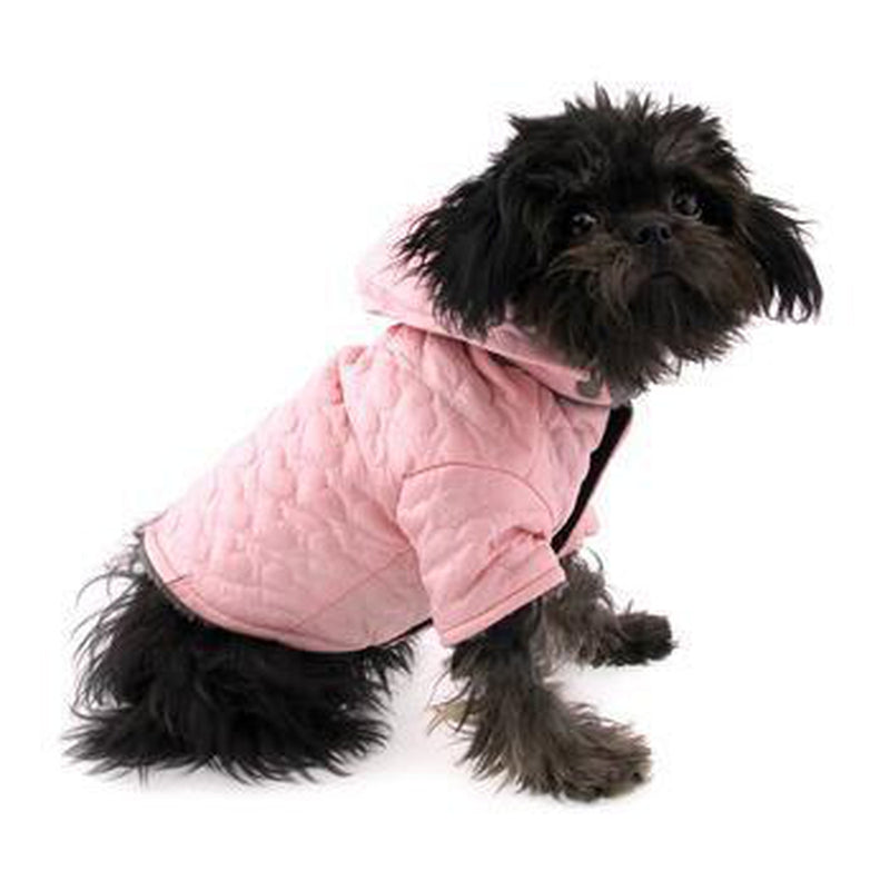Zack and Zoey Elements Quilted Hearts Dog Jacket - Pink Pet Clothes Zack and Zoey