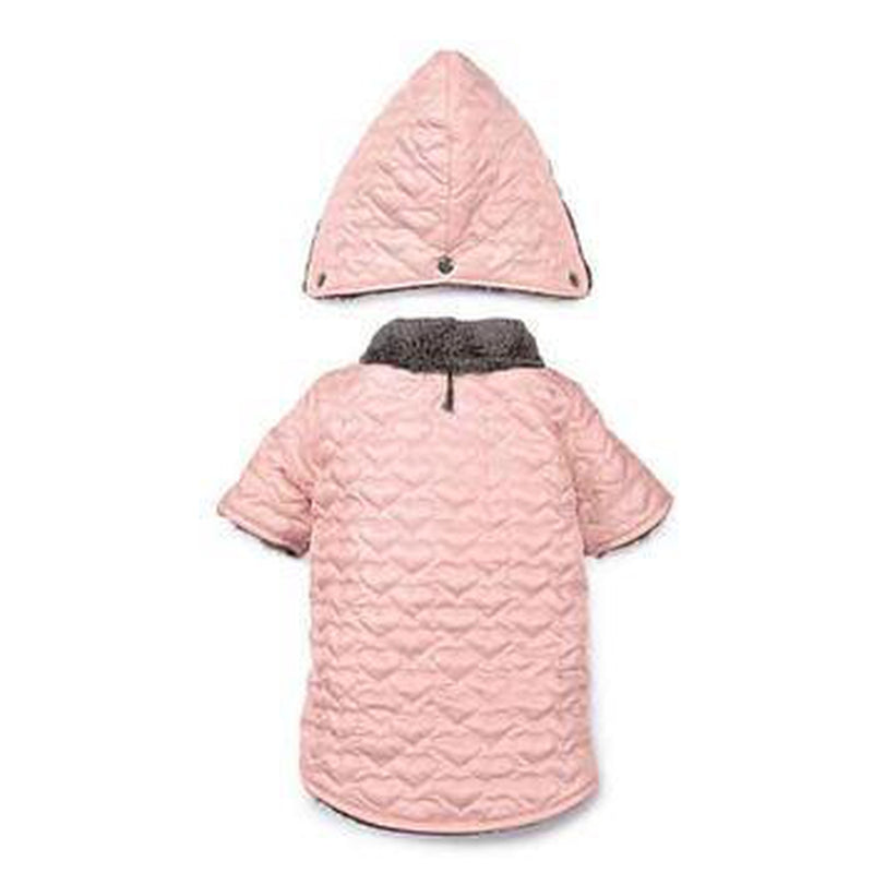 Zack and Zoey Elements Quilted Hearts Dog Jacket - Pink, Pet Clothes, Furbabeez, [tag]