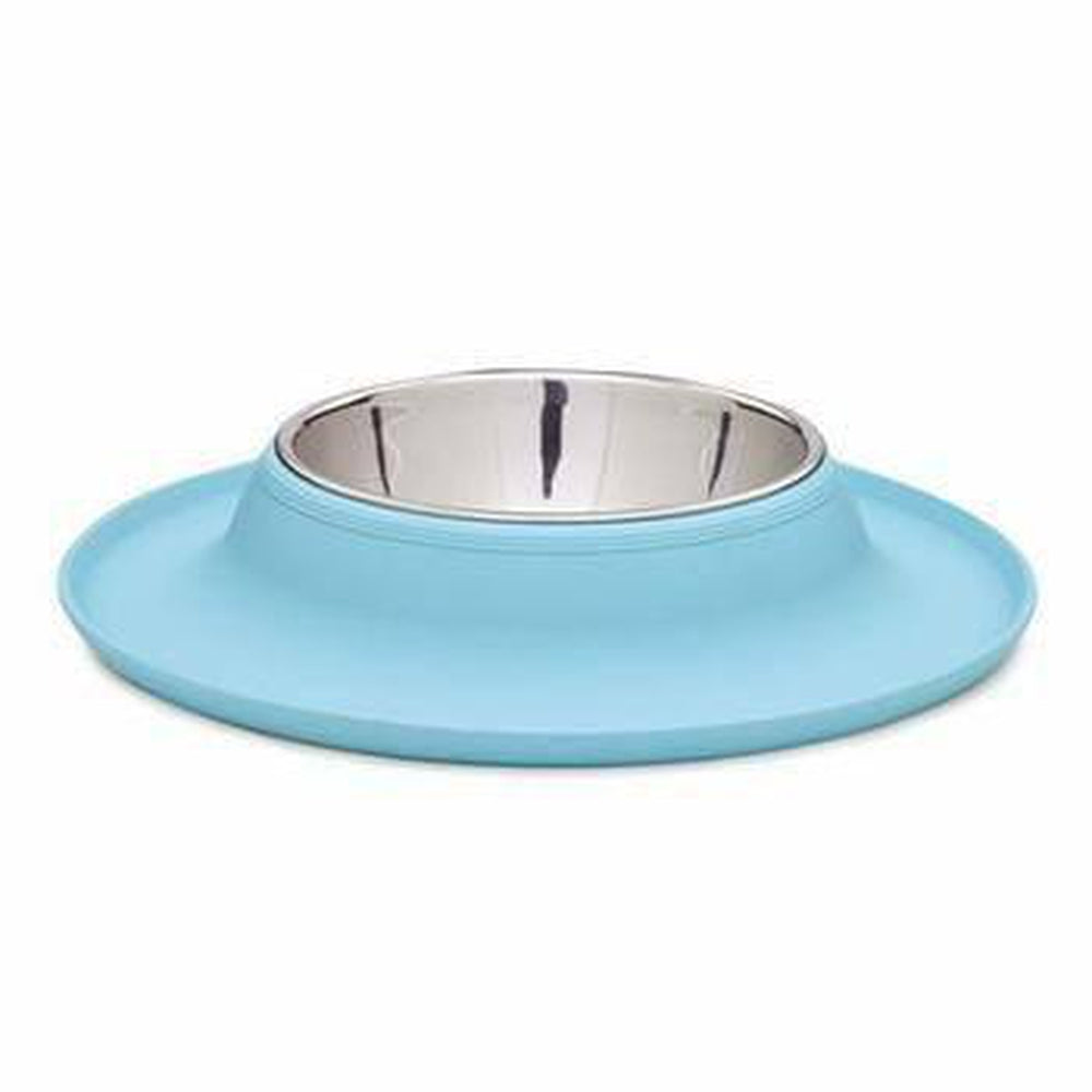 Zack and Zoey Crave Silicone Dog Bowl - Blue, Pet Bowls, Pet Retail Supply, Furbabeez