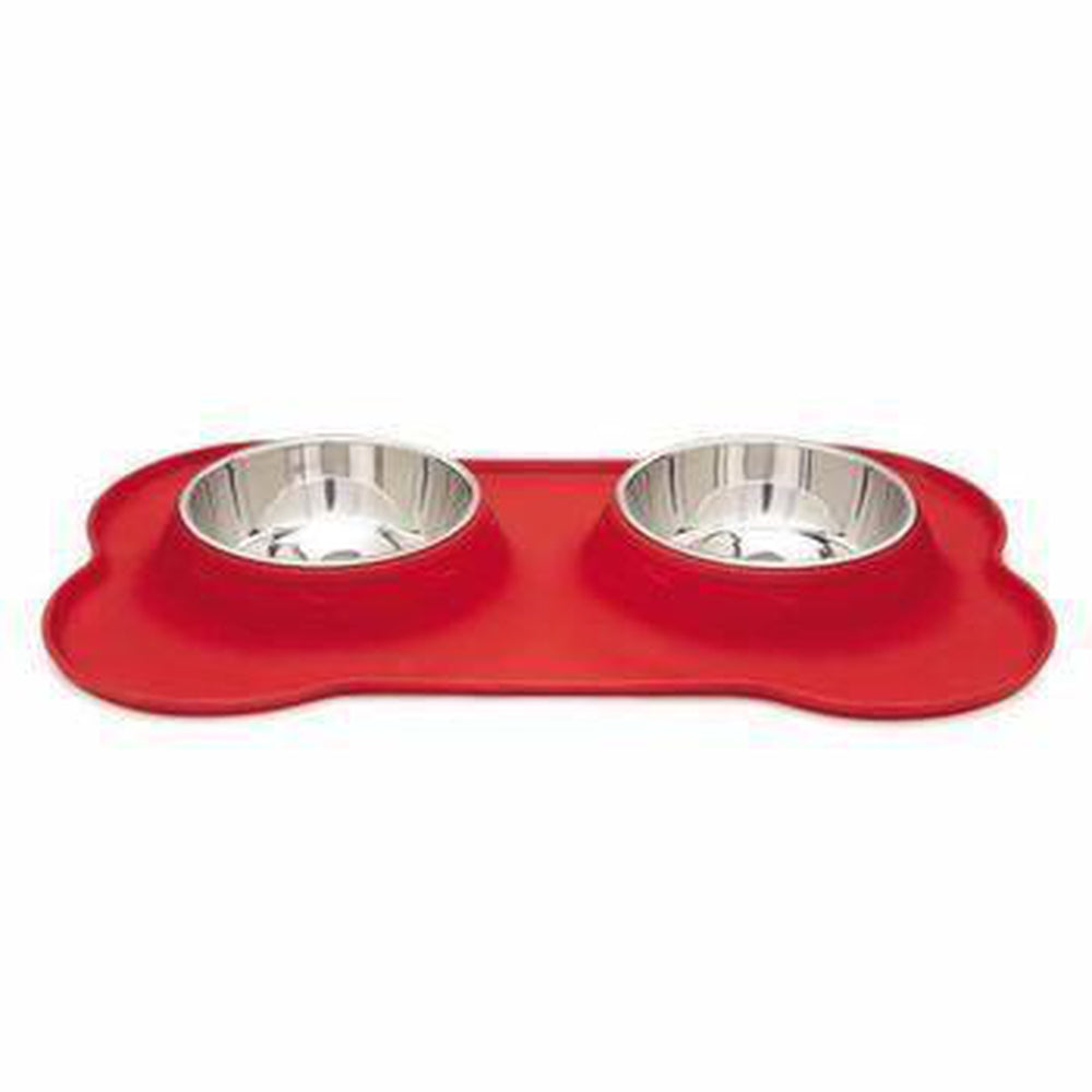 Zack and Zoey Crave Silicone Dog Diner - Tomato, Pet Bowls, Pet Retail Supply, Furbabeez