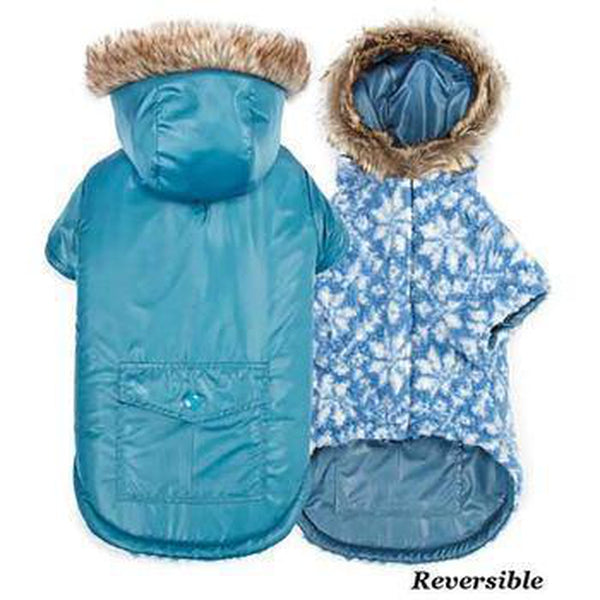 Zack and Zoey Elements Reversible Thermal Dog Parka - Blue, Pet Clothes, Furbabeez, [tag]