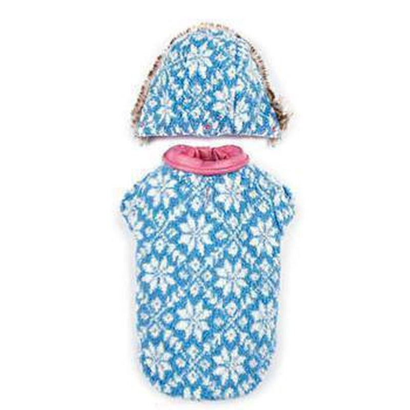 Zack and Zoey Elements Reversible Thermal Dog Parka - Pink Pet Clothes Zack and Zoey