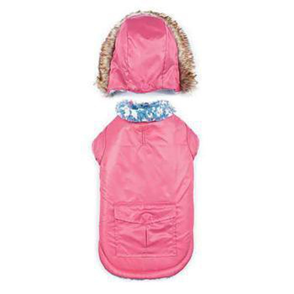 Zack and Zoey Elements Reversible Thermal Dog Parka - Pink, Pet Clothes, Furbabeez, [tag]