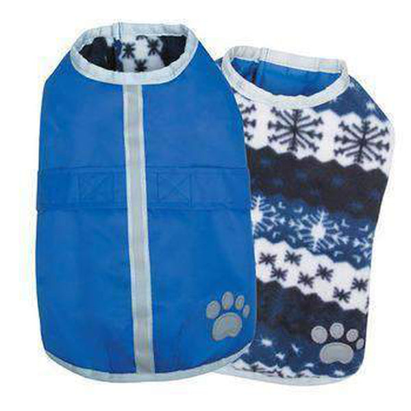 Zack and Zoey Nor'easter Dog Blanket Coat - Blue Pet Clothes Zack and Zoey