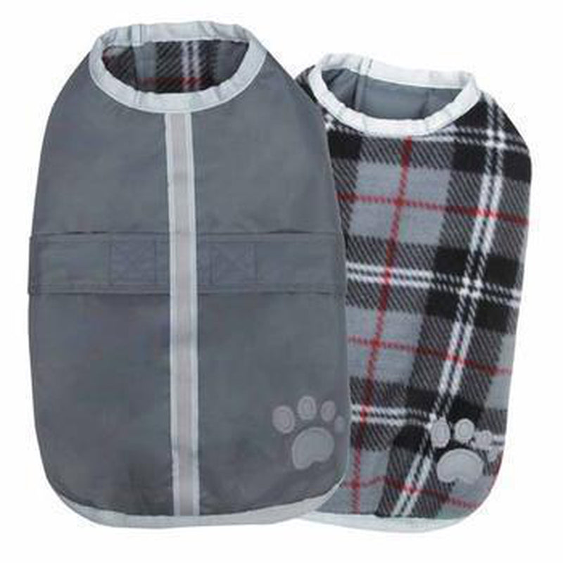 Zack and Zoey Nor'easter Dog Blanket Coat - Gray Pet Clothes Zack and Zoey