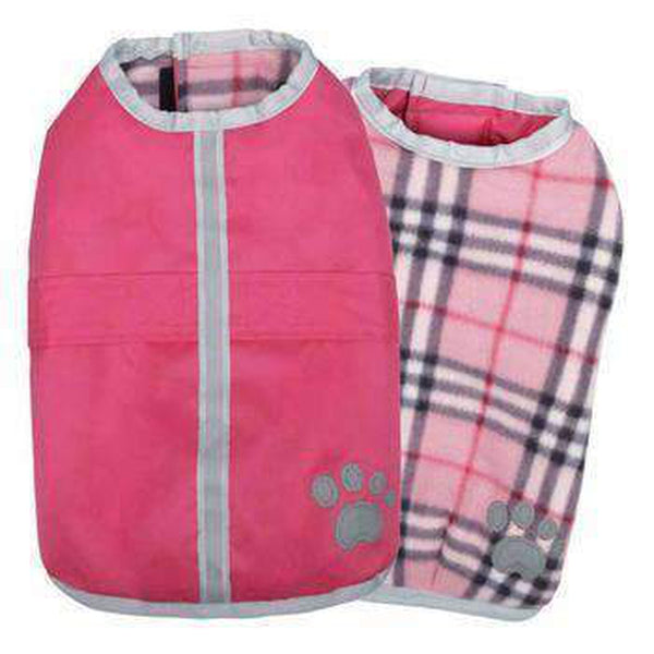 Zack and Zoey Nor'easter Dog Blanket Coat - Pink Pet Clothes Zack and Zoey