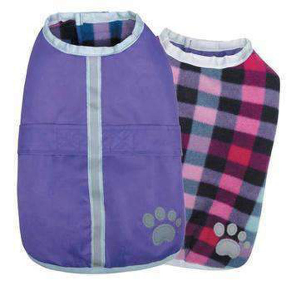 Zack and Zoey Nor'easter Dog Blanket Coat - Purple Pet Clothes Zack and Zoey