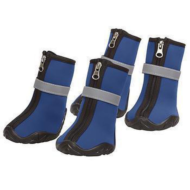 Zack and Zoey ThermaPet Neoprene Dog Boots - Blue Pet Clothes Zack and Zoey