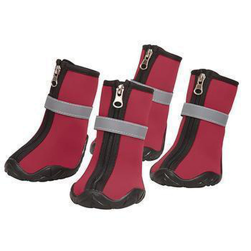 Zack and Zoey ThermaPet Neoprene Dog Boots - Red Pet Clothes Zack and Zoey