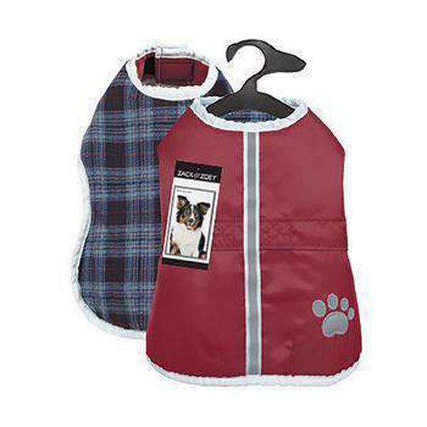 Zack and Zoey ThermaPet Nor'Easter Dog Coat - Burgundy Pet Clothes Zack and Zoey
