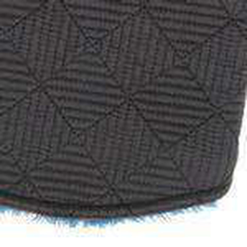 Zack and Zoey ThermaPet Quilted Dog Vest - Black with Blue Pet Clothes PetEdge,Zack and Zoey