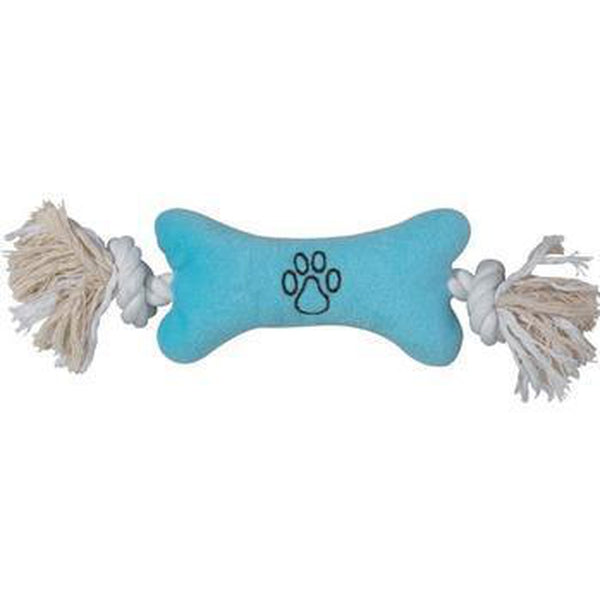 Zanies Bone Tugger Dog Toy Pet Toys Zanies Blue Small