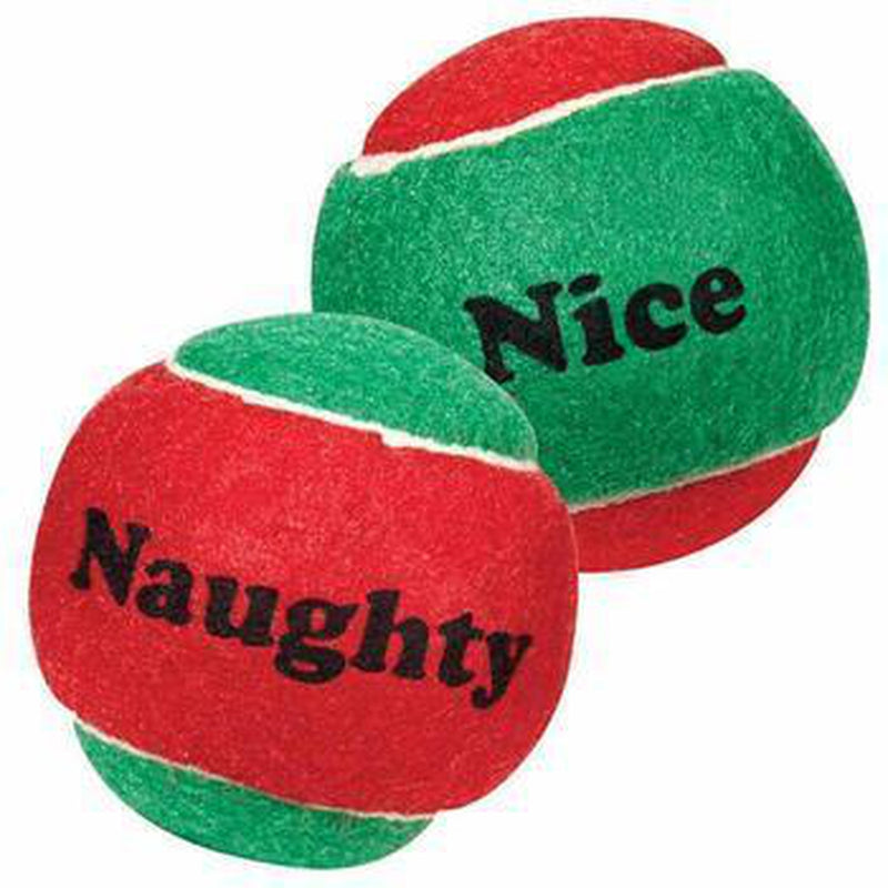 Zanies Naughty or Nice Tennis Ball Dog Toy, Pet Toys, Furbabeez, [tag]