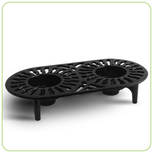 TRIVET WARMER - CAST IRON, BLACK