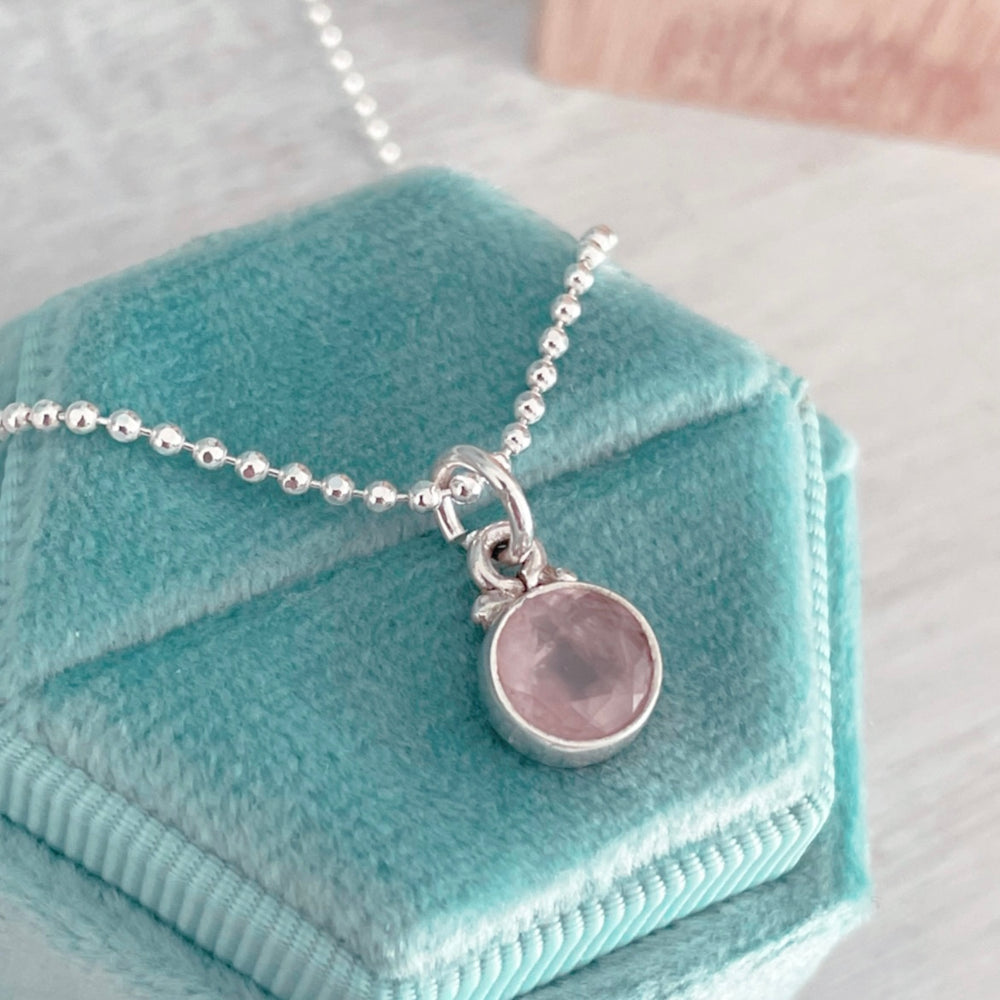 Micro Gem Stone Necklaces