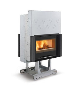 LA NORDICA FOCOLARE 80 BIFACCIALE HYBRID - WOOD BURNING ONLY, 12.3KW