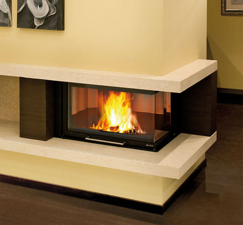 A NORDICA MONOBLOCCO 800 ANGOLO DX 12.4KW - WOOD BURNING ONLY, 12.4KW
