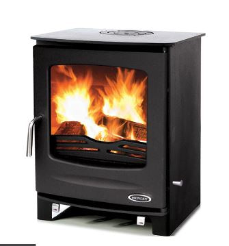 Henley Sherwood 8KW Freestanding Room Heater Matt Black External Air