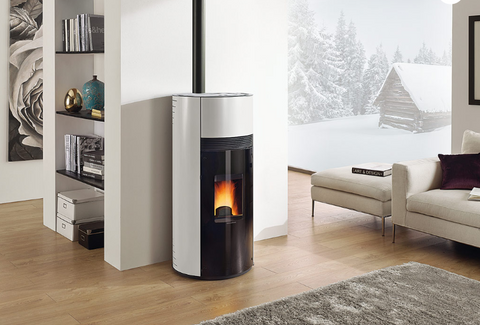 Extraflame Doroty- Wood Pellet, Free Standing, Red/Black/White 9.6 kW