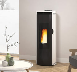 EXTRAFLAME AMIKA - WOOD PELLET STOVES, FREE STANDING, RED/BLACK/WHITE/NATURAL 8.8 KW