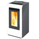 ARTEL - CAYENNE 10 C - DUCTED - PELLET STOVE - 10KW - RED/WHITE/GREY