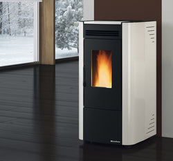 Extraflame Ketty Evo- Pellet Stove, Free Standing, Red/Black/Cream/White 7 Kw