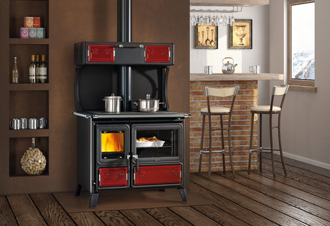 La Nordica, MILLY, Wood Burning Cooker, Enamelled Steel