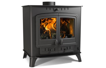 Villager 14 Duo - Non-Boiler Stove, Free Standing, Solid Fuel, 14-16 Kw, Matt, Black, No External Air