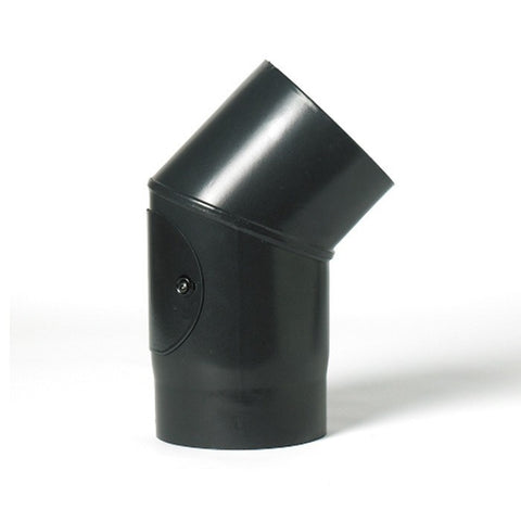 6 Single Wall: 45Ë € Elbow with Window - Flue
