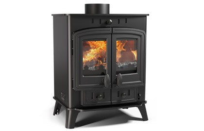 Villager 5 Duo - Non-Boiler Stove, Free Standing, Solid Fuel, 5 Kw, Matt, Black, No External Air