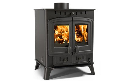 Villager 8 Duo - Non-Boiler Stove, Free Standing, Solid Fuel, 8 Kw, Matt, Black, No External Air