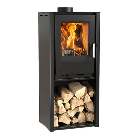 Aarrow i400 Freestanding - No, Free Standing, Solid Fuel, 6 Kw, Matt