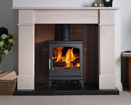 ACR Ashdale 7kw - Non-Boiler Stove, Free Standing, Solid Fuel, 7 Kw, Enamel, Cream, External Air