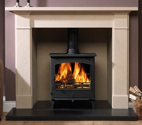 ACR Astwood - Non-Boiler Stove, Free Standing, Solid Fuel, 7 Kw, Matt, Black, External Air