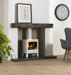 ACR Birchdale - Non-Boiler Stove, Free Standing, Solid Fuel, 5 Kw, Enamel, White, External Air