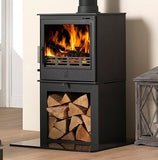 ACR Buxton - Non-Boiler Stove, Free Standing, Solid Fuel, 7 Kw, Matt, Buttermilk, External Air, Log Box