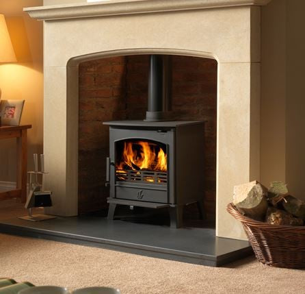 ACR Earlswood - Non-Boiler Stove, Free Standing, Solid Fuel, 5 Kw, Matt, Cranberry, No External Air, Log Box