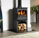 ACR Earlswood - Non-Boiler Stove, Free Standing, Solid Fuel, 5 Kw, Matt, Buttermilk, No External Air, Log Box