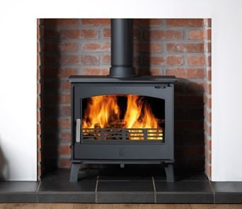 ACR Hopwood - Non-Boiler Stove, Free Standing, Solid Fuel, 6 Kw, Matt, Cranberry, External Air