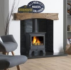 ACR Malvern Classic - Non-Boiler Stove, Free Standing, Solid Fuel, 5 Kw, Matt, Black, No External Air