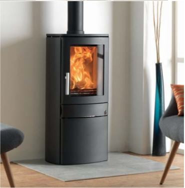 ACR Neo 1C - Non-Boiler Stove, Free Standing, Solid Fuel, 5 Kw, Matt, Black, No External Air, Log Box