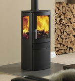 ACR Neo 3C - Non-Boiler Stove, Free Standing, Solid Fuel, 5 Kw, Matt, Black, External Air, Log Box