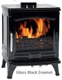 ACR Oakdale - Non-Boiler Stove, Free Standing, Solid Fuel, 5 Kw, Enamel, Black, External Air