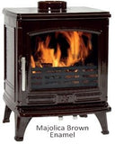 ACR Oakdale - Non-Boiler Stove, Free Standing, Solid Fuel, 5 Kw, Enamel, Brown, External Air