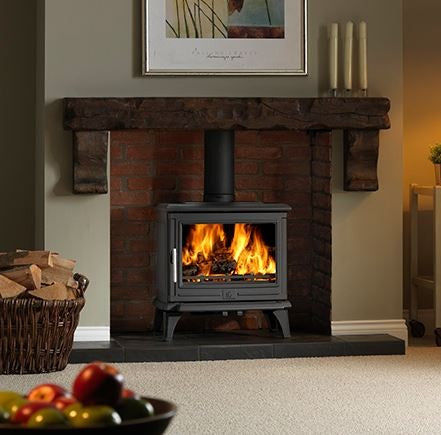 ACR Rowandale - Non-Boiler Stove, Free Standing, Solid Fuel, 5 Kw, Enamel, Black, External Air