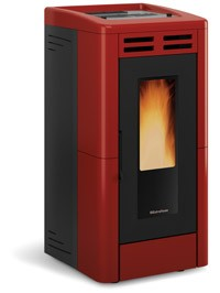 Extraflame Anastasia Plus - Non-Boiler Stove, Free Standing, 14-16 Kw, Red, Ducting Available