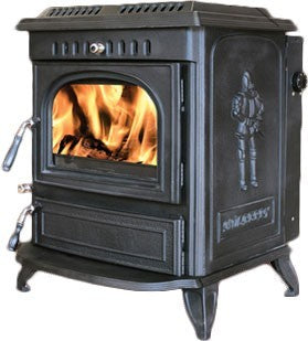 Mulberry Beckett - Boiler Stove, Free Standing, Solid Fuel, 17-20 Kw, Enamel, Black, No External Air