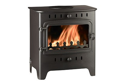 Villager C Flat Wood Solo - Non-Boiler Stove, Free Standing, Solid Fuel, 5 Kw, Matt, Black, No External Air