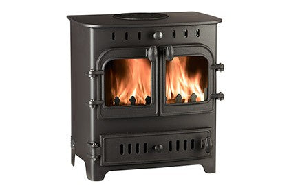 Villager Chelsea Duo - Non-Boiler Stove, Free Standing, Solid Fuel, 5 Kw, Matt, Black, No External Air